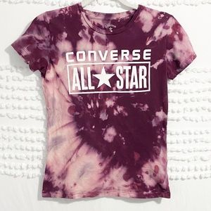 Converse All Star purple bleached tee xs
